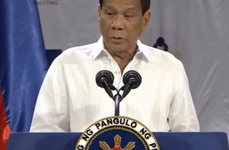 President Rodrigo Duterte speaking during closing ceremonies of the Asian Development Bank Annual Meeting in Mandaluyong on Saturday, May 5./RTVM/