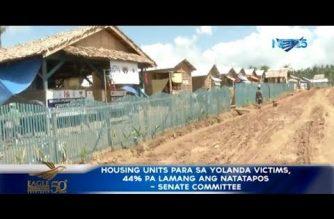 Housing units para sa biktima ng bagyong Yolanda, 44% pa lamang ang natatapos – Sen. Ejercito