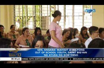 Sen. Angara: Mahigit 4 na milyong out-of-school youth, dapat bigyan ng ayuda ng gobyerno