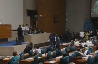 Drama at the House of Representatives continued as a shouting match ensued over objections on House Resolution No. 2025 installing which sought to enter into the House records the proceedings of July 23, 2018 which elected former President Gloria Macapagal Arroyo and Pampanga Rep. as the new House Speaker.  (Eagle News Service)
