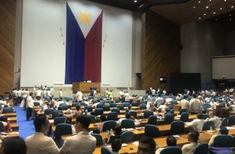 Members of the House of Representatives hold a session after the third State of the Nation Address of President Rodrigo Duterte on Monday, July 23. The session was called after Rep. Gloria Arroyo took her oath as Speaker of the House of Representatives. But it was Rep. Pantaleon Alvarez who sat with Duterte during his SONA, a tradition reserved for the Speaker of the House. Norie Baytic/Eagle News Service/