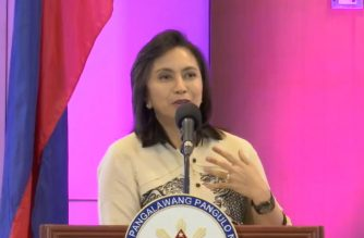 (File photo) Vice President Leni Robredo speaking at the Washington Sycip 12th National Education Summit in PICC, Pasay City on Thursday, Sept. 6, 2018, before she proceeded to the Senate to meet with senator Antonio Trillanes IV.   (Screengrab from video courtesy official Facebook account of VP Leni Robredo)