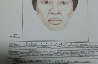 Composite sketch ng isa sa mga suspek sa pagpatay sa kapitana ng Barangay Bagong Silang, Quezon City na si Crisell Beltran./PNP/