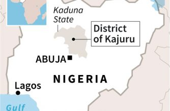 FILES: Map locating Kajuru district where more than 130 people were killed in an attack by gunmen on villages in the state of Kaduna in Nigeria.