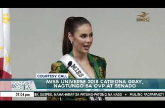 Miss Universe Gray visits VP Robredo, Senate, DOT; vows to continue serving, promoting the PHL