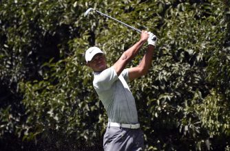 US golfer Tiger Woods tees on the 2nd hole during the third round of the PGA World Golf Championship, at Chapultepec's Golf Club in Mexico City on February 23, 2019. (Photo by Alfredo ESTRELLA / AFP)
