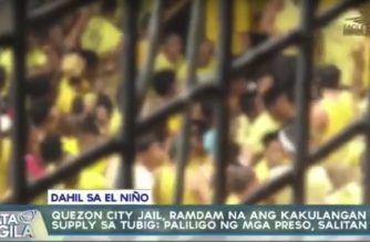 Quezon City Jail, ramdam na ang kakulangan ng suplay sa tubig; Paliligo ng mga preso, salitan na