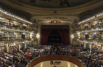 "El Ateneo Grand Splendid Bookshop in Buenos Aires. In 2019 it was named the ""world's most beautiful bookstore"" by the National Geographic. It was a former theatre that was converted into a bookstore when it was leased by Grupo Ilhisa in February 2000. Photo by Nadine Duenas, Eagle News Service."