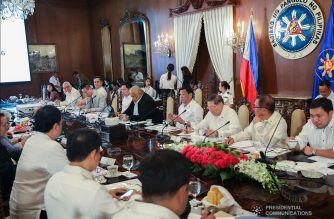 President Rodrigo  Duterte presides over the 36th Cabinet Meeting at the Malacañan Palace on April 1, 2019. ACE MORANDANTE/PRESIDENTIAL PHOTO