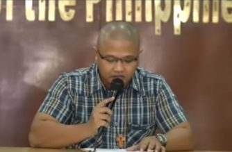 "Peter Joemel Advincula who claims to be the ""Bikoy"" in a series of videos linking members of President Rodrigo Duterte's family to illegal drug trade, makes an appearance at the Integrated Bar of the Philippines national headquarters on Monday, May 6, 2019."