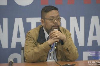 Commission on Elections (Comelec) spokesperson James Jimenez speaking during the May 13, 2019 presscon of the poll body.  (Eagle News Service)