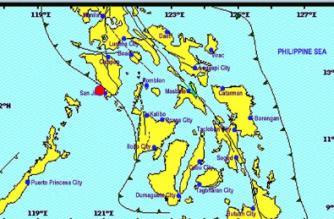 A 5.5-magnitude quake hit Occidental Mindoro on Saturday, May 4./PHIVOLCS/