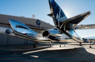 "(FILES) In this file photo taken on February 22, 2019 courtesy of Virgin Galactic, SpaceShipTwo mates to the mothership, WhiteKnightTwo, at Mojave Space Port on February 19, 2019, in Mojave, California. - Richard Branson's Virgin Galactic will merge with a New York-listed company to become the world's first publicly-traded space tourism venture, the British billionaire's group announced on July 9, 2019. (Photo by HO / AFP) / RESTRICTED TO EDITORIAL USE - MANDATORY CREDIT ""AFP PHOTO / Virgin Galactic"" - NO MARKETING NO ADVERTISING CAMPAIGNS - DISTRIBUTED AS A SERVICE TO CLIENTS"