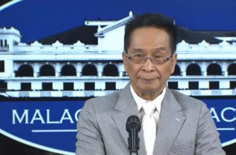 Presidential Spokesperson Salvador Panelo holds a press briefing in Malacanang on Thursday, August 1, 2019 (Photo grabbed from RTVM video/Courtesy RTVM)