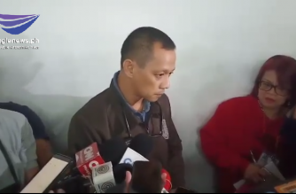 Fredrick Anthony Santos speaks to reporters on the sidelines of a Senate hearing on the GCTA controversy last year. Santos had said he believes the GCTA was not for sale in BuCor. He said, however, that there was corruption there./Gem Vega/Eagle News/