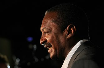 "(FILES) In this file photo taken on November 21, 2010, Mathew Knowles attends a screening of ""I AM...World Tour"" at the School of Visual Arts Theater in New York City. - Knowles, the father of pop diva Beyonce, has revealed his battle with breast cancer and urged other men to get tested for the disease. The 67-year-old music executive discussed his illness in an interview on ""Good Morning America"" October 2, 2019, saying he was diagnosed earlier this summer after he and his wife noticed recurring dots of blood on his shirts and on their bedsheets. (Photo by jemal countess and Stephen LOVEKIN / GETTY IMAGES NORTH AMERICA / AFP)"