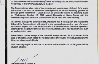UAAP lifts suspension on UP's Bo Perasol