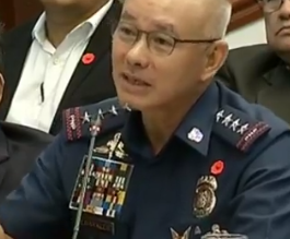 PNP Chief Oscar Albayalde was present during Wednesday's joint Senate panel hearing on the issue of ninja cops./Eagle News/