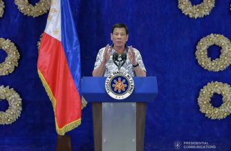 President Rodrigo Duterte holds a press conference at the Malacañan Palace on November 19, 2019. VALERIE ESCALERA/PRESIDENTIAL PHOTO