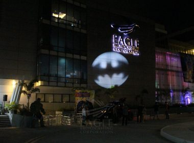 Bat signal during EBC Pop Con