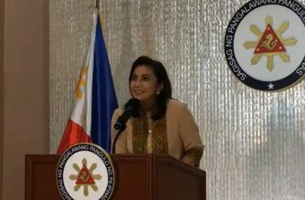 Vice-President Leni Robredo speaking to media as she reveals that she is accepting the post as co-chair of the Inter-Agency Committee on Anti-Illegal Drugs (ICAD) to help save innocent lives.  (Photo grabbed from VP Leni Robredo's Facebook page/Courtesy VP Leni Robredo's Facebook)