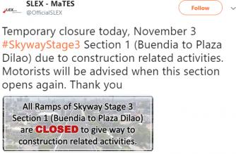Skyway advisory