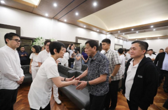 President Rodrigo Duterte on Sunday, Nov. 17, visited the wake of Elizabeth Yu Gokongwei, who passed away over the weekend./from Bong Go/