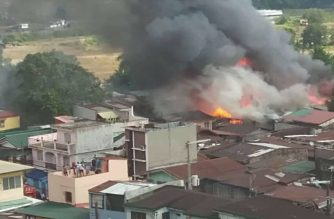 A fire hit a residential area in Pandacan, Manila on Saturday, Dec. 28./Manila PIO/