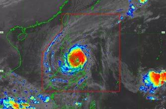 "JUST IN: ""Tisoy"" makes landfall in Gubat, Sorsogon; typhoon slightly intensifies"