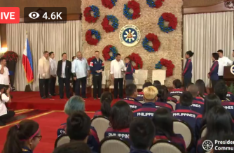 President Rodrigo Duterte himself conferred the Order of Lapu Lapu on the Filipino SEA Games medalists in ceremonies held in Malacañang on Wednesday, Dec. 18./PCOO/