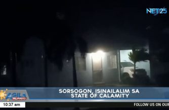 Sorsogon placed under state of calamity