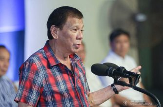 (File photo) President Rodrigo Duterte delivers a speech during the ceremonial distribution of agricultural assistance to the farmers of Region 12 at the Pigcawayan Municipal Gymnasium in Cotabato on January 10, 2020. SIMEON CELI JR./PRESIDENTIAL PHOTO