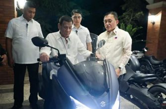 In photos: Duterte rides motorcycle in PSG compound