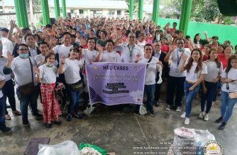 New Era University and its alumni association on Saturday, Jan. 25, conducted relief distribution activities to help victims of the recent Taal Volcano eruption in Batangas province.  (Photo courtesy NEU)