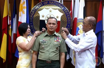 AFP Chief of Staff  Felimon Santos Jr. was promoted to the next higher rank of general on Monday, January 27, the AFP said./AFP/