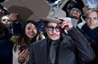"US actor Johnny Depp arrives on the red carpet for the premiere of the film ""Minamata"" screened in the Berlinale Special Gala on February 21, 2020 at the 70th Berlinale film festival in Berlin. - The 11-day Berlinale, one of Europe's most prestigious film extravaganzas alongside Cannes and Venice, celebrates its 70th anniversary in 2020 and will be running from February 20 to March 1, 2020. (Photo by John MACDOUGALL / AFP)"