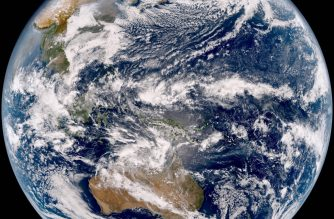 """This handout from the Japan Meteorological Agency taken by Japan's weather satellite Himawari-9 at 0240 GMT on January 24, 2017 shows the Asia-Pacific region. - This is the first image sent by the Himawari-9 after it was launched from southern Japan in November 2016. (Photo by STR / Japan Meteorological Agency / AFP) / RESTRICTED TO EDITORIAL USE - MANDATORY CREDIT """"AFP PHOTO / JAPAN METEOROLOGICAL AGENCY"""" - NO MARKETING NO ADVERTISING CAMPAIGNS - DISTRIBUTED AS A SERVICE TO CLIENTS"""