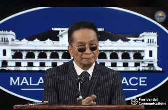 File photo of Presidential Spokesperson Salvador Panelo holds a press briefing on Thursday, Feb. 13, 2020, in Malacanang. (Photo grabbed from RTVM video)