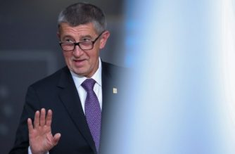 Czech Republic's Prime Minister Andrej Babis waves as he arrives for a special European Council summit in Brussels on February 20, 2020, held to discuss the next long-term budget of the European Union (EU). (Photo by Aris Oikonomou / AFP)