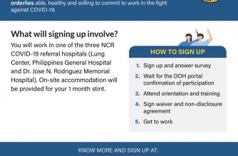 (Courtesy: Department of Health) The DOH is calling on all doctors, nurses, nursing assistants, and other medical and non-medical professionals to contribute in the fight against COVID-19.