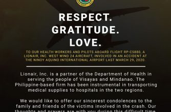 DOH condoles with loved ones of those killed in Lionair plane crash