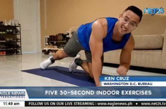 WATCH: Five 30-second indoor exercises