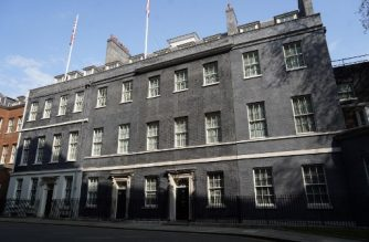 A general view is pictured of number 10 Downing Street in central London on April 11, 2020, as Britain's Prime Minister Boris Johnson appears to be on the road to recovery from the novel coronavirus COVID-19. - Prime Minister Boris Johnson was able to walk in hospital on Friday some 24 hours after leaving intensive care treatment for COVID-19, as Britain recorded nearly 1,000 daily deaths from the virus for the first time. (Photo by Niklas HALLE'N / AFP)