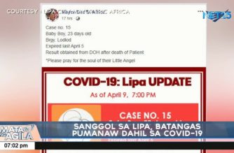 23-day old baby in Lipa, Batangas could be youngest COVID-19 fatality in PHL