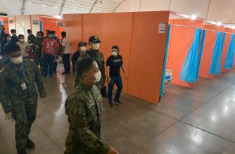 The Department of Public Works and Highways turned over to the PNP-Medical Corps today, April 15, the newly converted COVID-19 health facility at the Philippine International Convention Center (PICC).  (Courtesy: DPWH)
