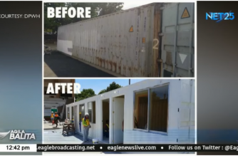 Shipping containers have been converted by the DPWH into mobile health facilities, amid rising cases of COVID-19 in the country. (Courtesy: Agila Balita)