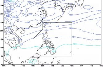 Moderate to heavy rainshowers expected over parts of N. Luzon