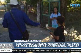 Concerned citizen, namimigay ng P500 sa mga pamilya sa Concepcion, Tarlac
