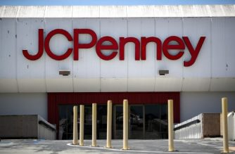 SAN BRUNO, CALIFORNIA - MAY 15: A view of a temporarily closed JCPenney store at The Shops at Tanforan Mall on May 15, 2020 in San Bruno, California. JCPenney avoided bankruptcy after the company paid down paid $17 million in debt on Friday after missing two previous payments.JCPenney has an estimate $3.6 billion in debt.   Justin Sullivan/Getty Images/AFP