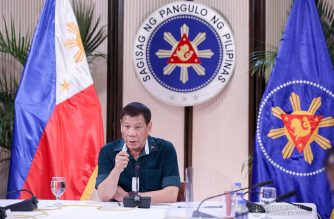President Rodrigo Roa Duterte updates the nation on the government's efforts in addressing the coronavirus disease (COVID-19) at the Malago Clubhouse in Malacañang on May 4, 2020. TOTO LOZANO/PRESIDENTIAL PHOTO